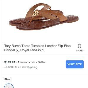 5af16f14e3b Tory Burch Shoes - Tory Burch flip flops worn once